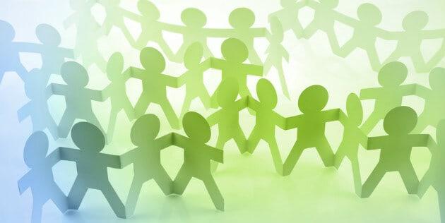 pessoas unidas em uma comunidade