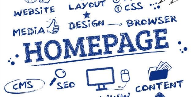 ilustração de palavras relacionadas a otimização de homepage