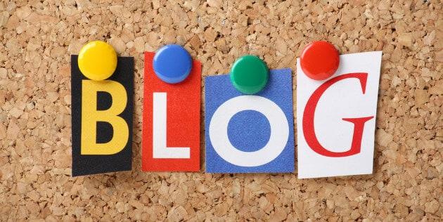 letras formando a palavra blog