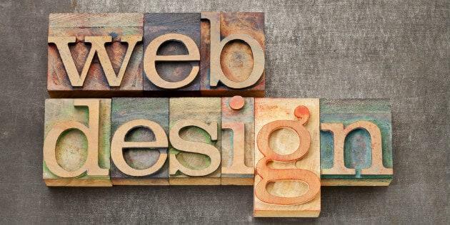 web design escrito em grandes letras