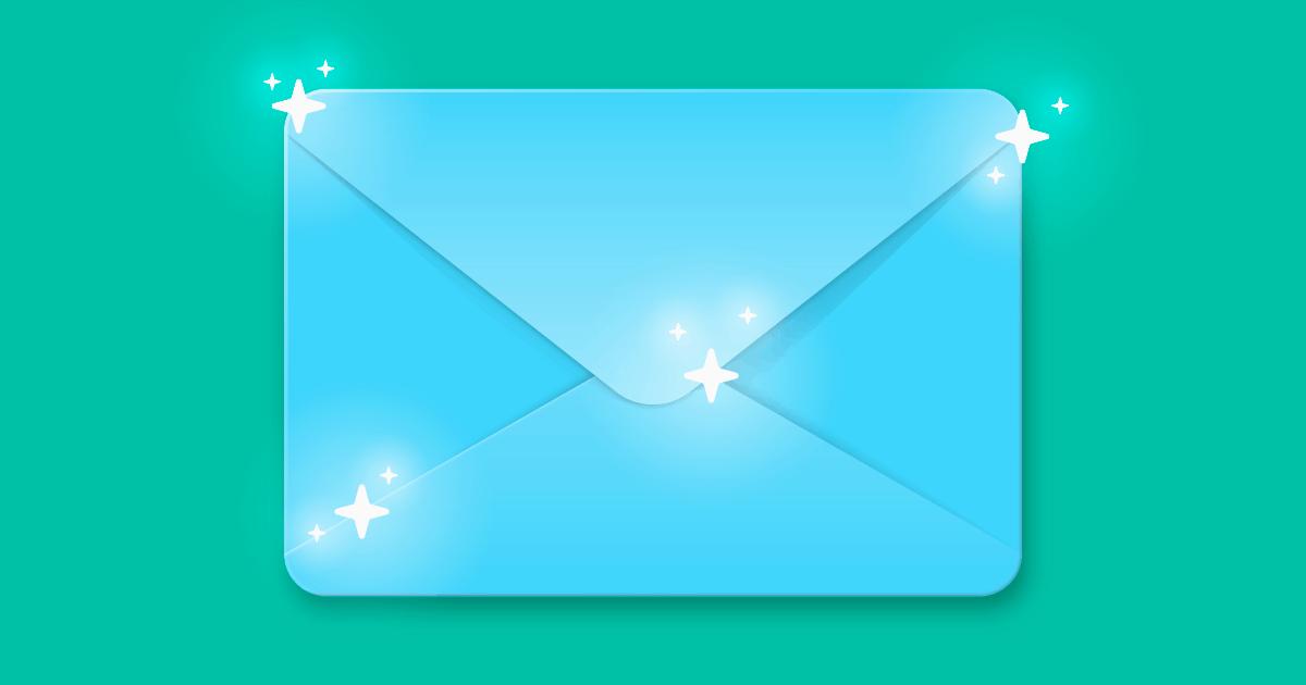 desenho de uma carta de newsletter