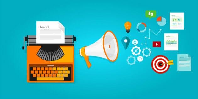 desenho conceitual de marketing de conteúdo