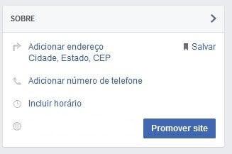criar uma página no Facebook para sua empresa