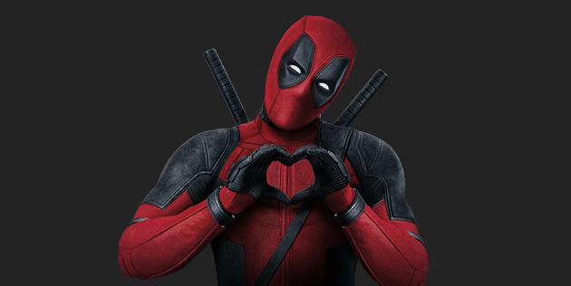 Deadpool mandando coração