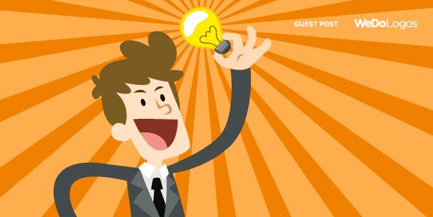 Homem tendo uma ideia e segurando uma luz