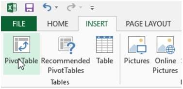 Como usar Excel: pivot table