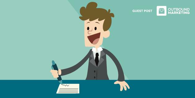Empresário preparado para contratar o melhor vendedor, homem escrevendo