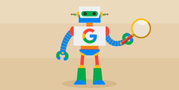 Robô do Google representando o RankBrain