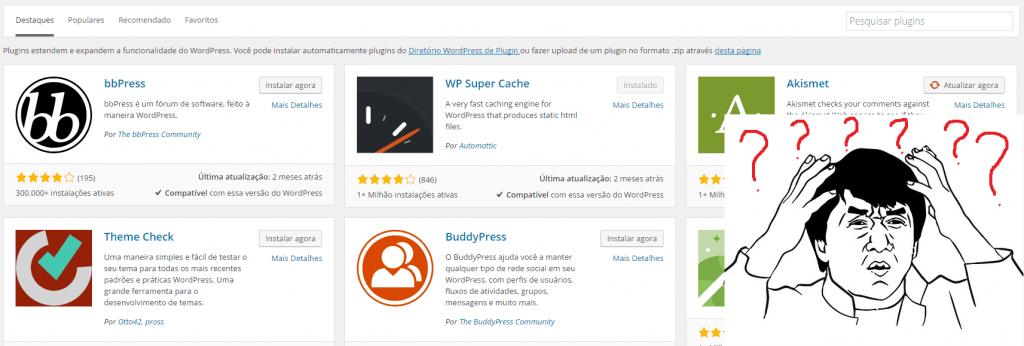 Buscando o plugin Yoast SEO no WordPress