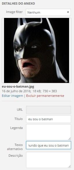 Yoast SEO: eu sou o Batman