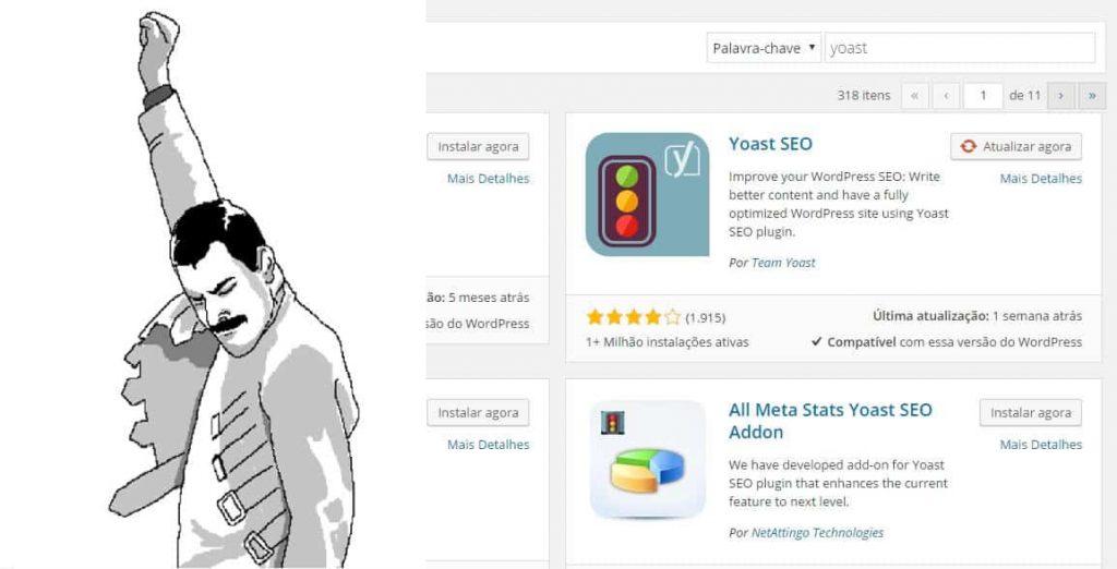 Encontrando o Yoast SEO no WordPress