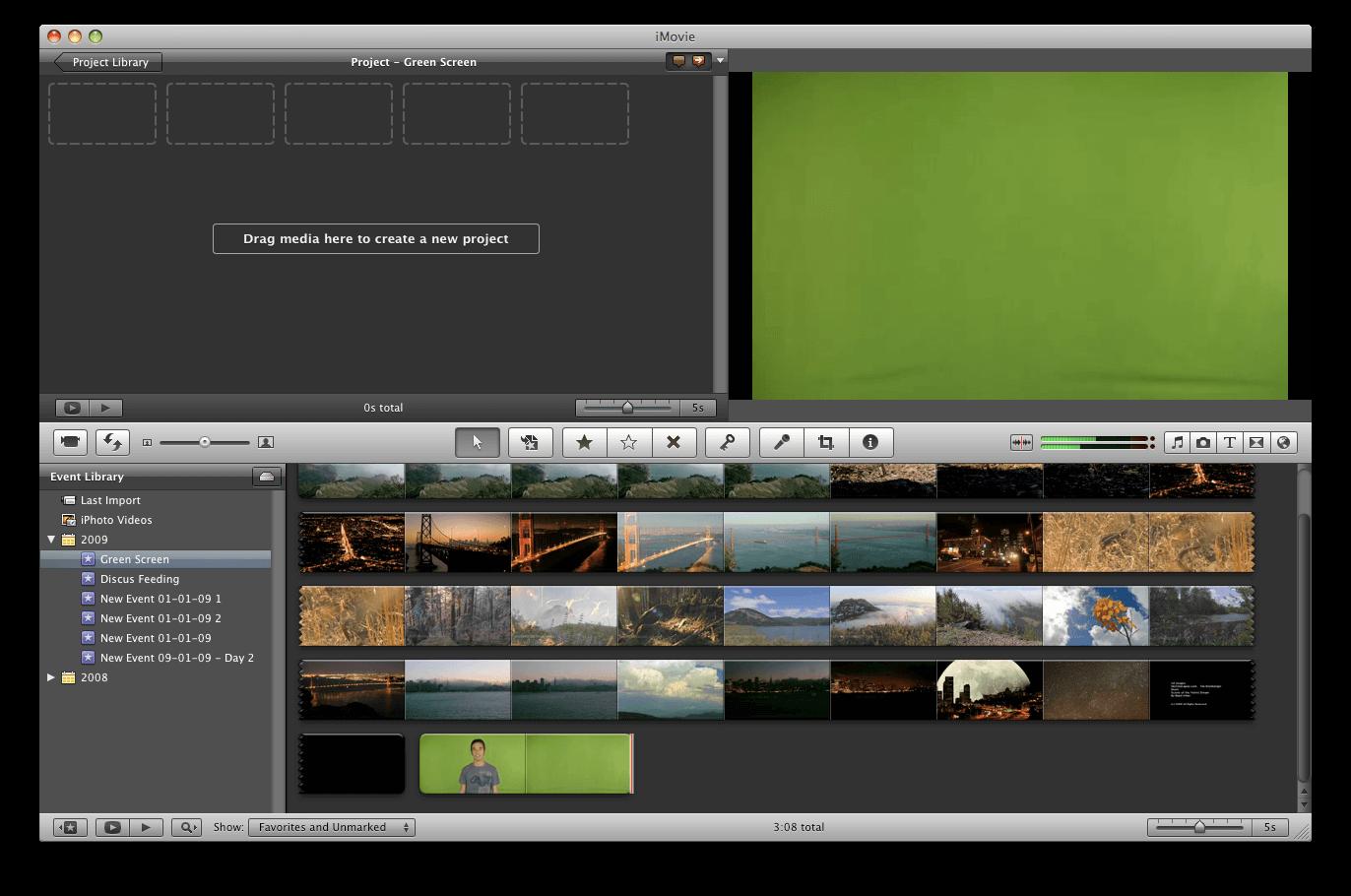 como produzir um vídeo: screenshot Imovie