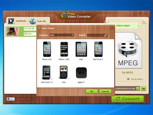 como produzir um vídeo: screenshot do Free Video Converter