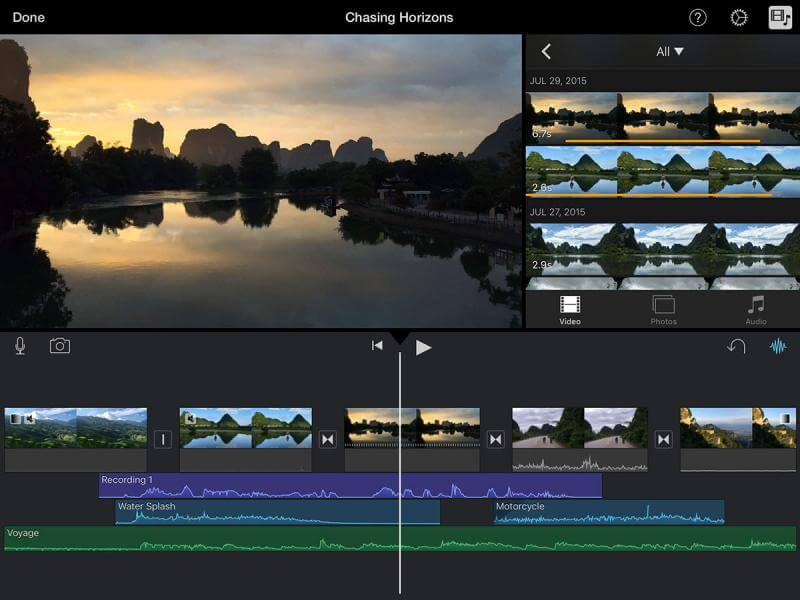 como produzir um vídeo: screenshot do Imovie para IOs
