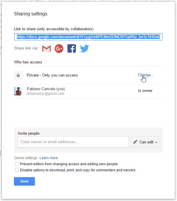 como usar o google drive: link compartilhável