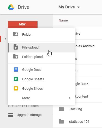 como usar o google drive: como importar um arquivo