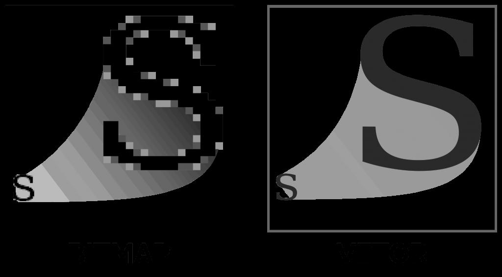 design gráfico: exemplo bitmap