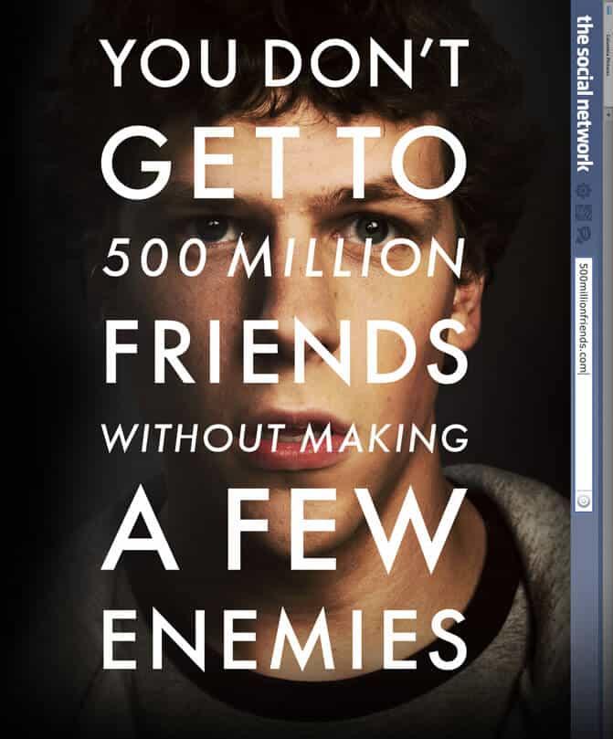 "facebook: pôster do filme ""a rede social"""