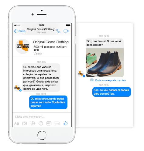 Diálogo entre marca e usuário pelo Facebook Messenger Ads
