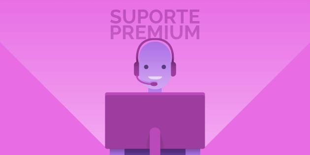 suporte premium
