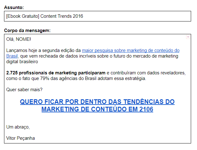 Exemplo Email Promocional