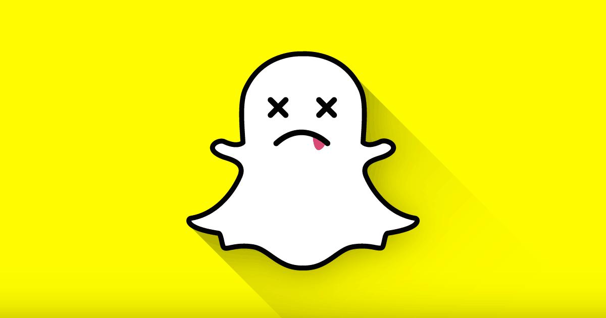 o snapchat morreu