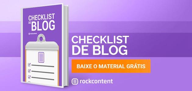 Checklist de Blog