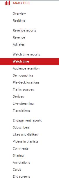 metricas de redes sociais - Youtube analytics