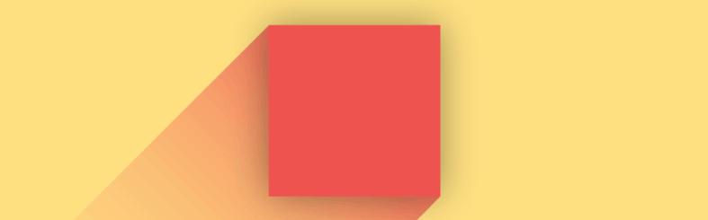 Material Design - Elementos organizados para dar ideia de movimento