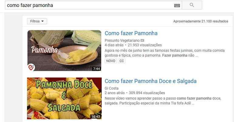 Resultados de busca no Youtube para Como fazer pamonha
