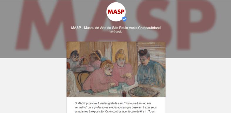 Google Posts do MASP