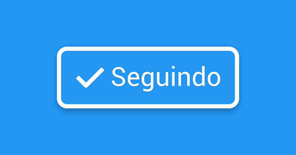Google app: botão de seguir