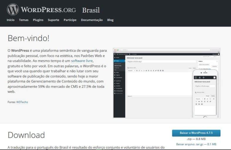 Como instalar WordPress.org
