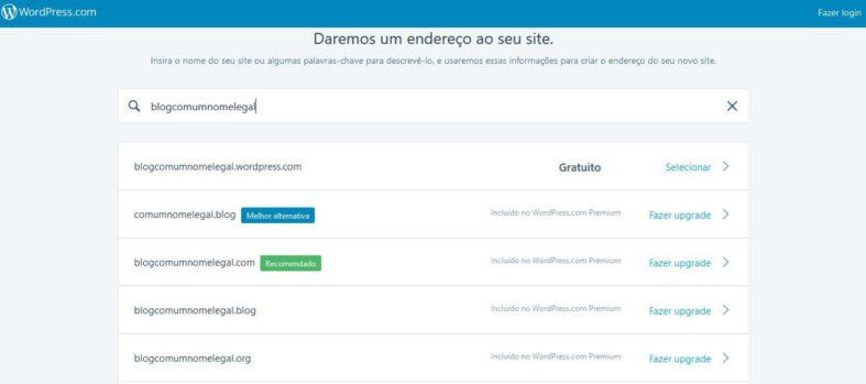 Domínio no WordPress.com