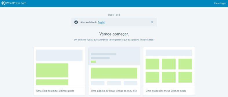 Opções de layout no WordPress.com