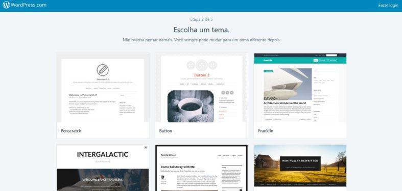 Opções de tema no WordPress.com