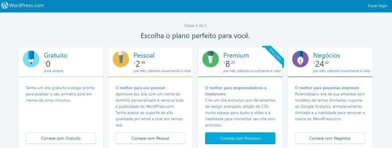 Planos do WordPress.com