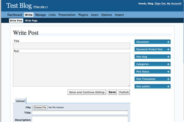 Versão 2.0 do WordPress