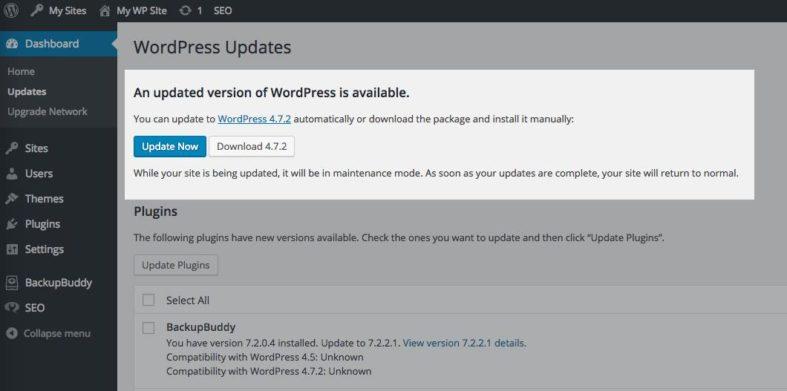 Versão 4.7.2 do WordPress