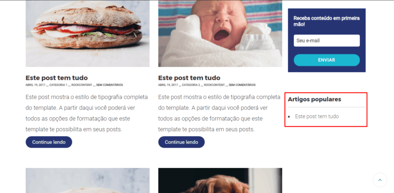 WordPress Popular Posts no visual do blog