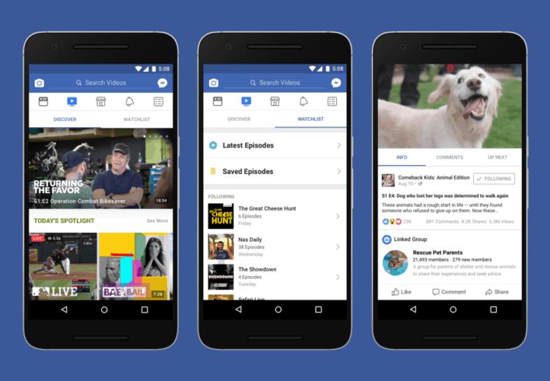 Facebook Watch: Discover e Watchlist