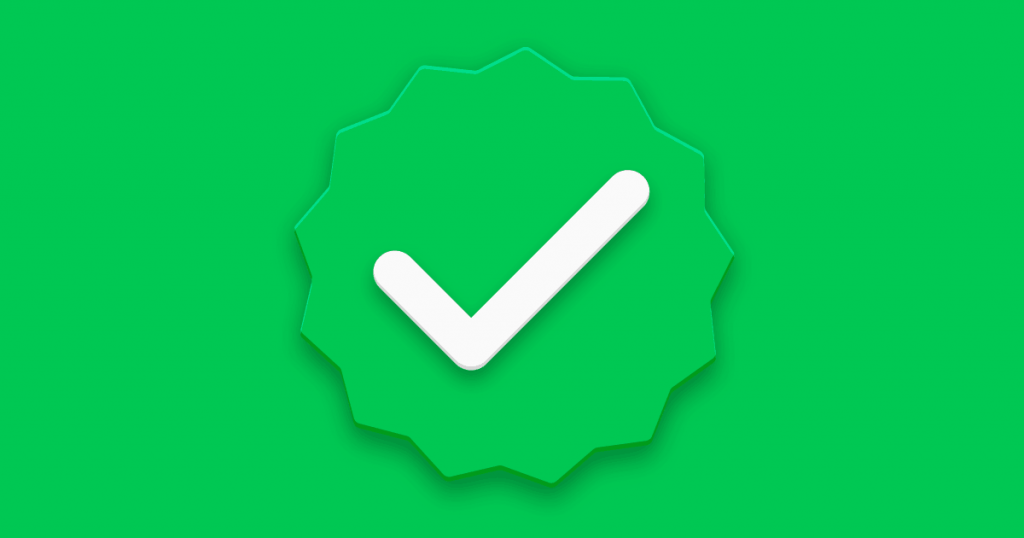 Contas verificadas no WhatsApp