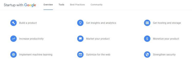 Ferramentas Startup with Google