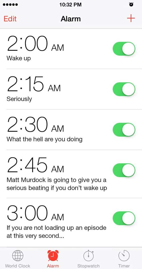 alarmes demolidor