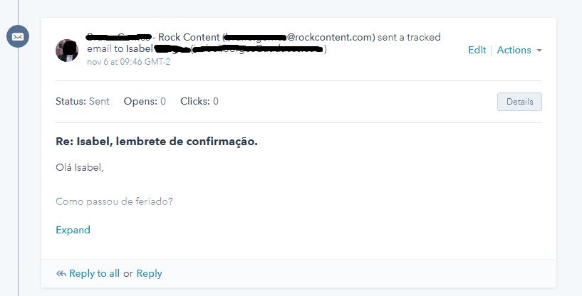 Rastreando o envio de email na Hubspot
