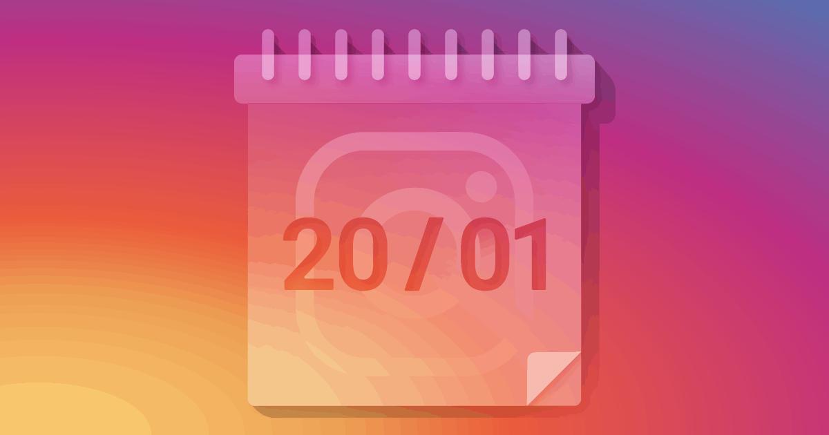 Agendamento de posts no Instagram