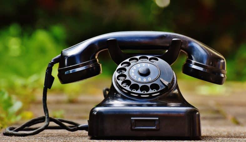 Imagem de um telefone antigo