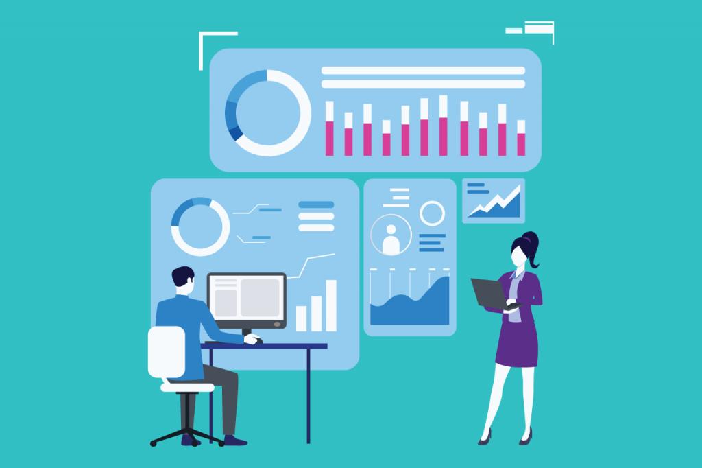 ilustração sobre software de gestão