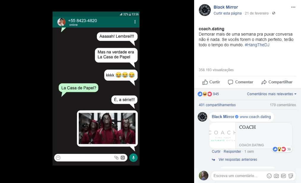 Promocional Black Mirror na Netflix