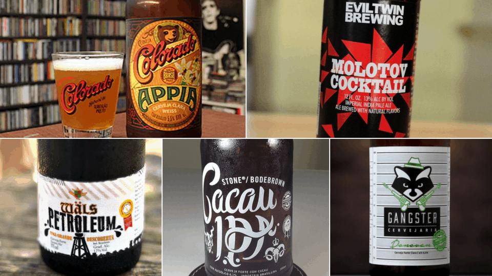 Exemplos de bons rótulos de cerveja